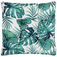 vidaXL Pernă de scaun de grădină, frunze, 80x80x10 cm, material textil