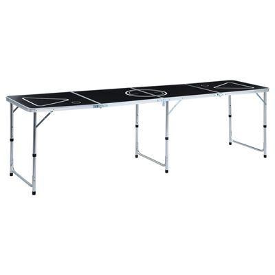 vidaXL Masă de joc ping pong și bere cu căni și bile, pliantă, 240 cm