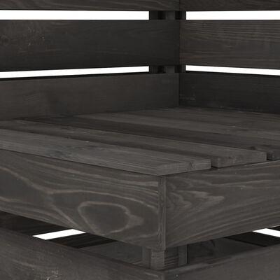 vidaXL Set mobilier de grădină, 7 piese, gri, lemn de pin tratat