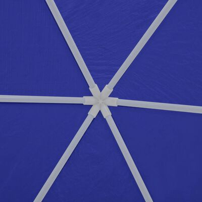42347 vidaXL Marquee with 6 Side Walls Blue 2x2 m