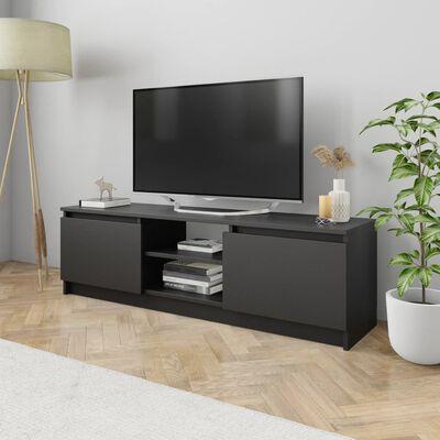 vidaXL Comodă TV, negru, 120 x 30 x 35,5 cm, PAL