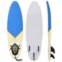 vidaXL Placă de surf, 170 cm, albastru și crem