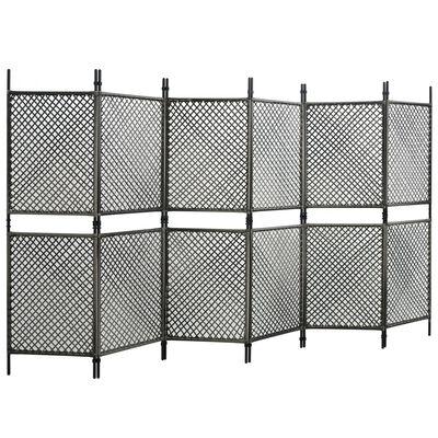 vidaXL Panou de gard, antracit, 3,6x2 m, poliratan
