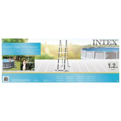 Intex Scară de siguranță pentru piscină în 4 trepte, 122 cm