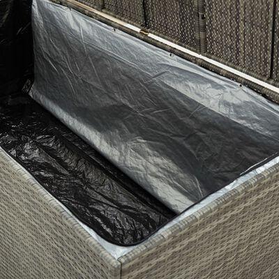 vidaXL Ladă de depozitare de grădină, gri, 180x90x75 cm, poliratan