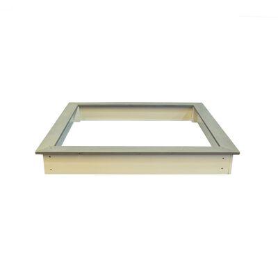 Sunny Cadru din lemn groapă nisip maro & alb 127x127 cm  C052.001.00