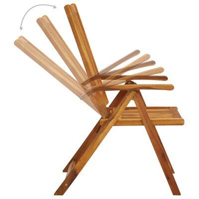vidaXL Scaune de grădină rabatabile, 2 buc., lemn masiv de acacia