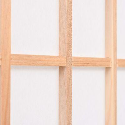 vidaXL Paravan pliabil 6 panouri, stil japonez, 240x170 cm, Natural
