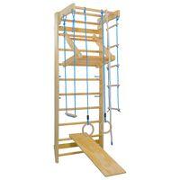 vidaXL Set de joacă pentru cățărat de interior cu scări și inele, lemn