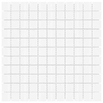 vidaXL Plăci mozaic autoadezive 22 buc. alb, 30x30 cm, sticlă
