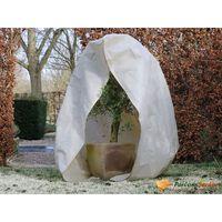 Nature Husă anti-îngheț din fleece cu fermoar bej 3x2,5x2,5 m 70 g/m²