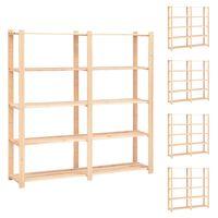 vidaXL Etajere cu 5 niveluri 5 buc, 170x38x170 cm, lemn de pin, 500 kg