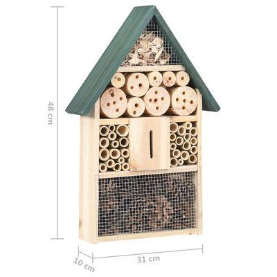vidaXL Casă de insecte, 31x10x48 cm, lemn de brad