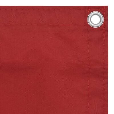vidaXL Paravan de balcon, roșu, 90 x 600 cm, țesătură oxford