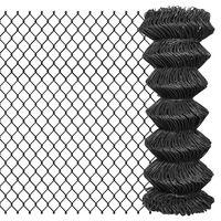 vidaXL Gard plasă de sârmă, gri, 15 x 1 m, oțel