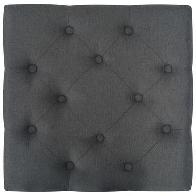 vidaXL Taburet, gri închis, 60 x 60 x 36 cm, poliester