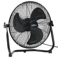 vidaXL Ventilator de podea, 3 viteze, 45 cm, 60 W, negru
