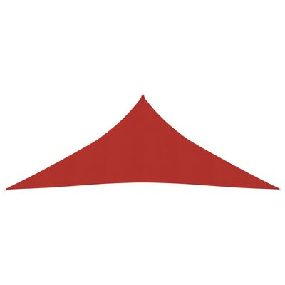 vidaXL Pânză parasolar, roșu, 4x4x4 m, HDPE, 160 g/m²