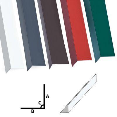 vidaXL Profile de colț în L 90° 5 buc. alb 170 cm 100x100 mm aluminiu