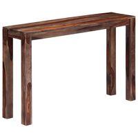 vidaXL Masă consolă, gri, 120 x 30 x 76 cm, lemn masiv de sheesham