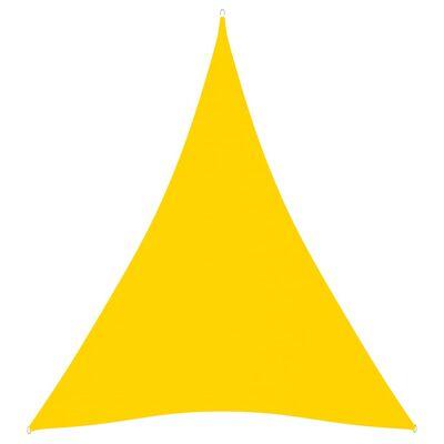 vidaXL Parasolar, galben, 5x6x6 m, țesătură oxford, triunghiular