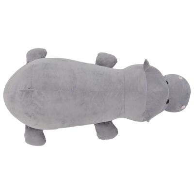 vidaXL Hipopotam de jucărie, gri, pluș