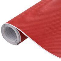 vidaXL Folie auto mașină 4D, roșu mat, 200 x 152 cm