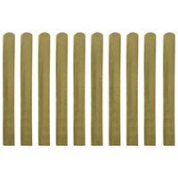 vidaXL Șipci de gard tratate, 10 buc., 100 cm, lemn