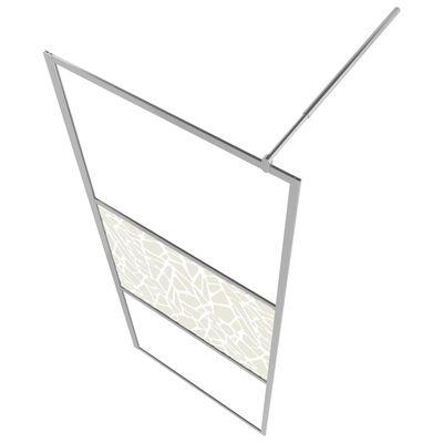 vidaXL Paravan de duș walk-in, 80 x 195 cm, sticlă ESG, model piatră