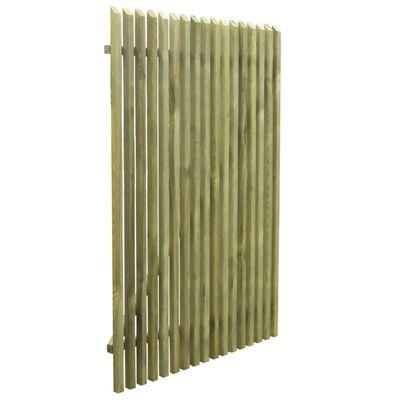 vidaXL Poartă de grădină din scânduri, 100x150 cm, lemn de pin tratat