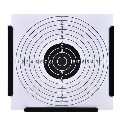 vidaXL Suport țintă tip pâlnie colectare gloanțe 14cm 100 ținte hârtie