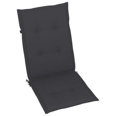 vidaXL Perne scaun de grădină, 6 buc., antracit, 120 x 50 x 4 cm