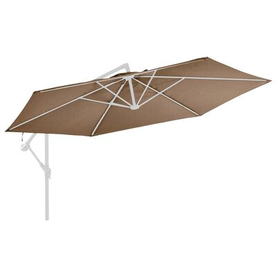 vida XL Pânză de schimb umbrelă de soare consolă, gri taupe, 350 cm