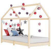 vidaXL Cadru de pat de copii, 80 x 160 cm, lemn masiv de pin