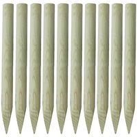 vidaXL Stâlpi de gard, 10 buc., 100 cm, lemn