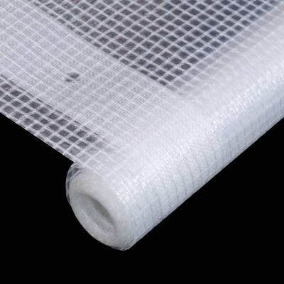 vidaXL Prelată Leno 260 g/m², alb, 4 x 6 m