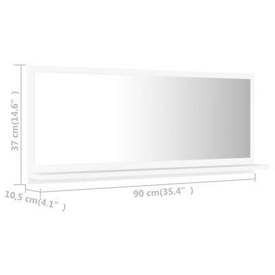 vidaXL Oglindă de baie, alb, 90 x 10,5 x 37 cm, PAL