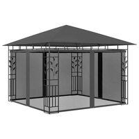 vidaXL Pavilion cu plasă anti-țânțari, antracit, 3x3x2,73 m, 180 g/m²
