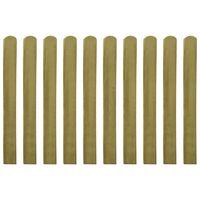 vidaXL Șipci de gard din lemn tratat, 20 buc., 100 cm