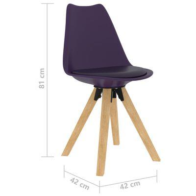 vidaXL Set mobilier de bucătărie, 5 piese, lila