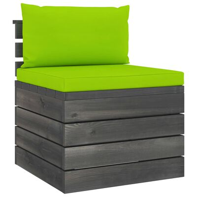 vidaXL Set mobilier grădină din paleți cu perne 7 piese lemn masiv pin