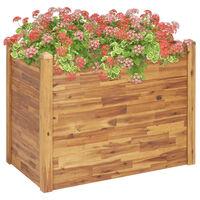 vidaXL Strat înălțat de grădină, 110x60x84 cm, lemn masiv de acacia