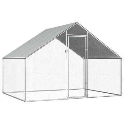 vidaXL Coteț de păsări pentru exterior, 2,75x2x1,92 m, oțel galvanizat