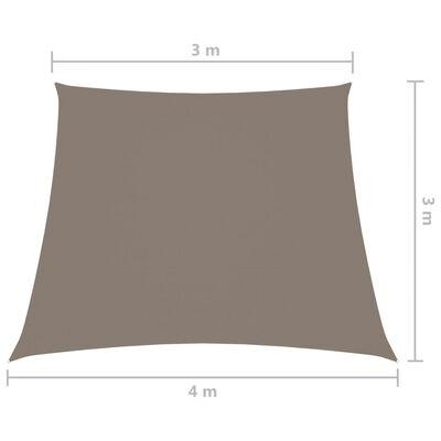 vidaXL Parasolar, gri taupe, 3/4x3 m, țesătură oxford, trapez