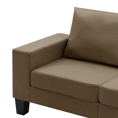 vidaXL Canapea cu 5 locuri, maro, material textil
