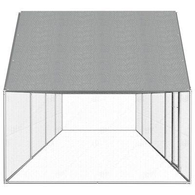 vidaXL Coteț pentru păsări, 8 x 2 x 2 m, oțel galvanizat