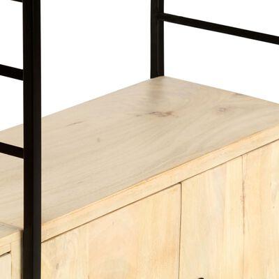 vidaXL Bibliotecă cu 4 niveluri 80x30x180 cm lemn masiv de mango