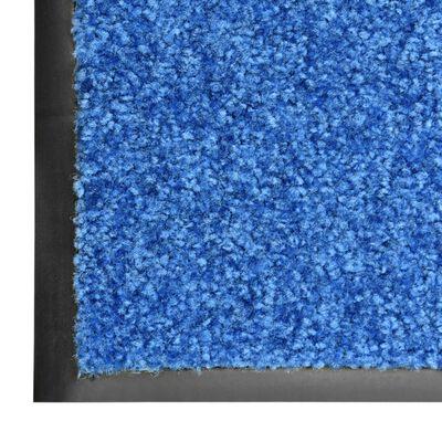 vidaXL Covoraș de ușă lavabil, albastru, 40 x 60 cm