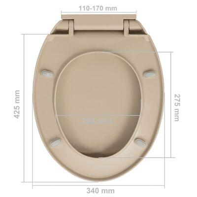 vidaXL Capac WC închidere silențioasă, eliberare rapidă, bej, oval