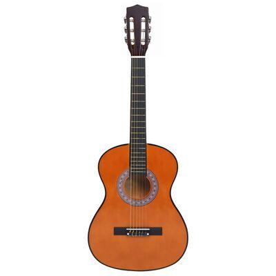"""vidaXL Set de chitară clasică copii și începători, 8 piese, 3/4 36"""""""